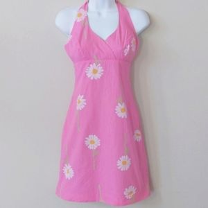 🎉HP🎉Lilly Pulitzer Pink Daisy Halter Dress - 0P